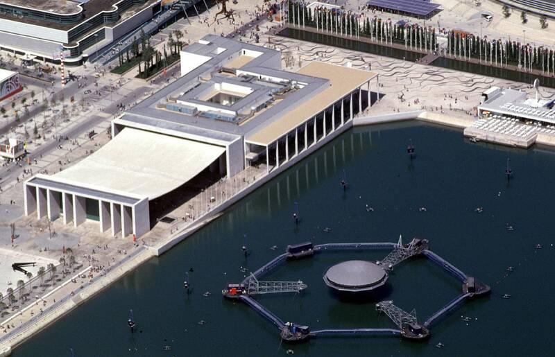 Pavihão de Portugal e estrutura para o Aqua Matrix