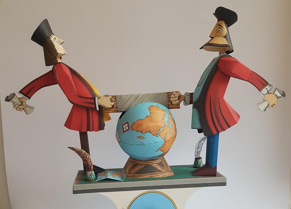 Modelo de papel – Tratado de tordesilhas