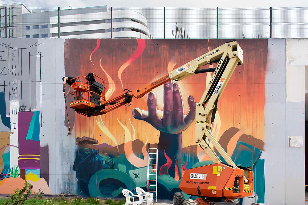 'O muro que nos (re)úne' no Prq. das Nações